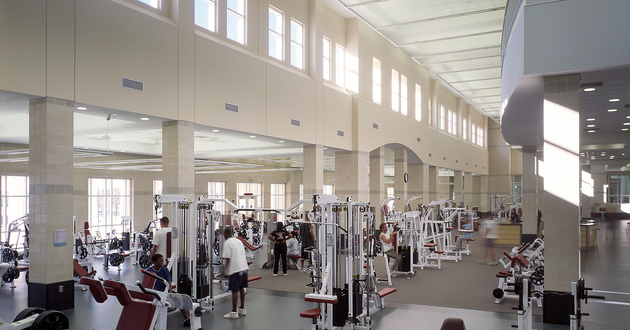 University of South Carolina and Boudreaux architects designed student gym on the corner of Assembly and Blossom Street.